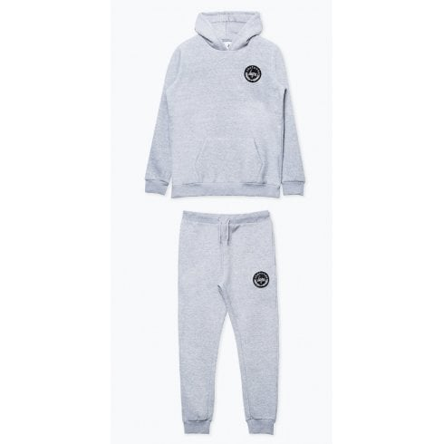 Hype Kids Unisex Grey Crest Hoodie and Joggers Set