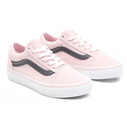 Vans Ladies Suede Old-Skool Pink and Grey Trainers