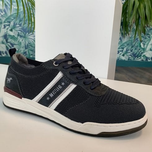 Mustang Mens Navy Lace Up Trainer