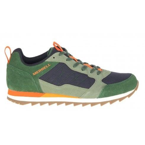 Merrell Mens Alpine Green Navy & Orange Trainers