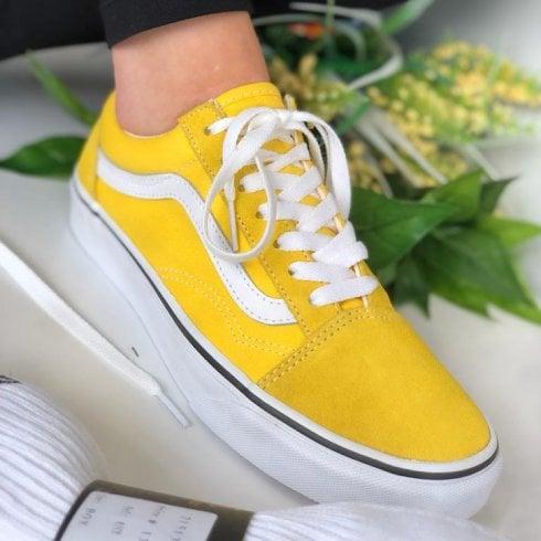 Vans Ladies Suede Old-Skool Yellow Trainers