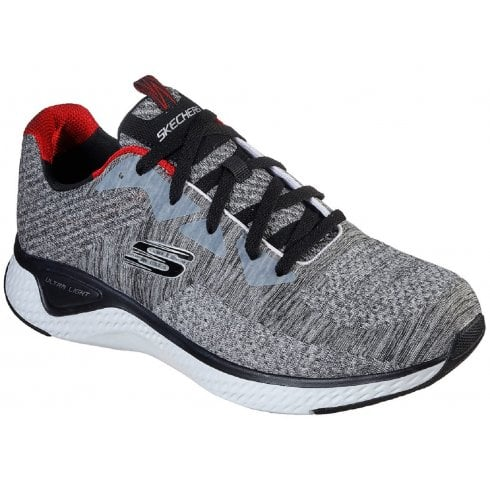 Skechers Mens Solar Fuse Grey and Black Trainers