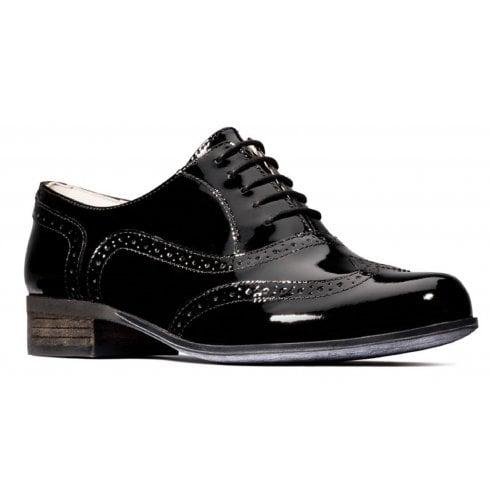 Clarks Hamble Oak Black Patent Shoes 'E' Fit