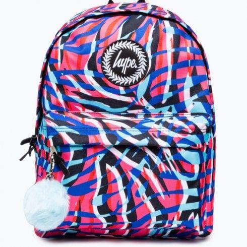 Hype Kids Highlighter Zebra Backpack