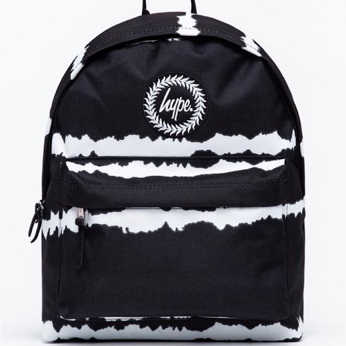 Hype Kids Black Stripe Tie-Dye Backpack
