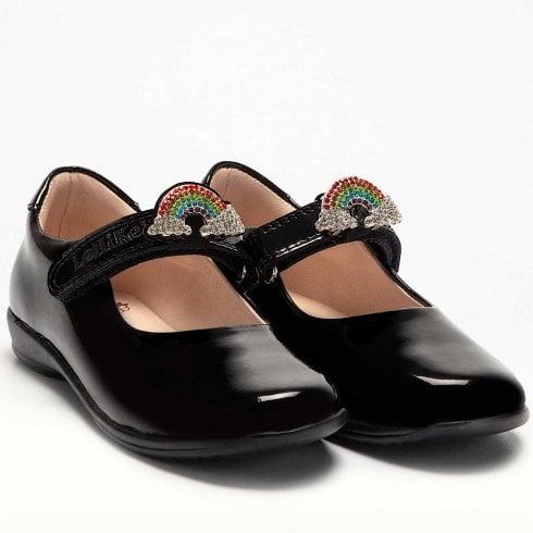 Lelli Kelly Girls Brite - Black Patent School Shoes