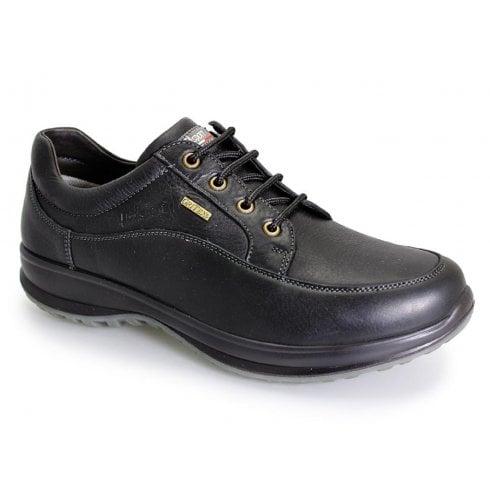 Grisport Livingston Mens Black Leather Comfort Laced Shoe