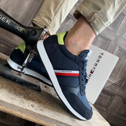 Tommy Hilfiger Mens Tape Mixed Panel Trainers