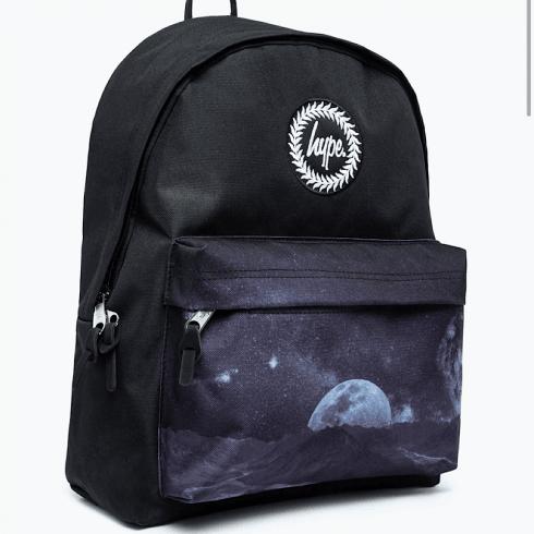 Hype Moon Landing Black Backpack