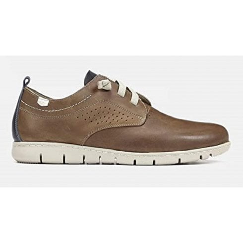 On Foot OnFoot Mens Brown Leather Casual Trainers
