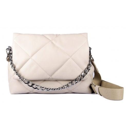 Unisa Kerina Large Quilted Bag - Ivory