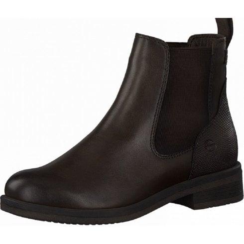 Tamaris Ladies Mocca Brown Slip On Chelsea Boots
