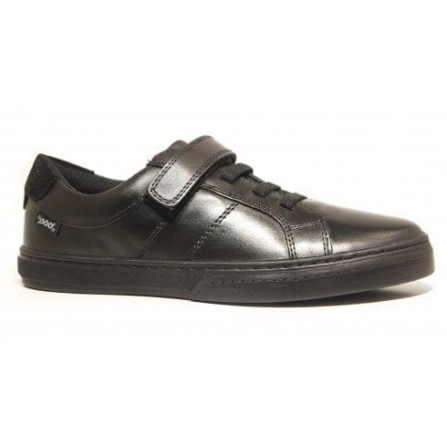 POD Krew Black Velcro Boys School Shoes