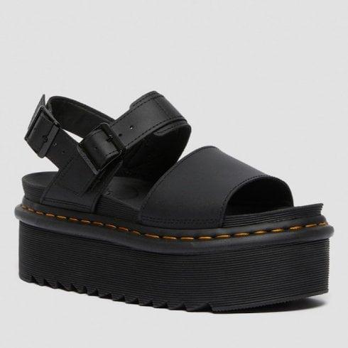 Dr. Martens Dr Martens Ladies Voss Black Platform Sandals