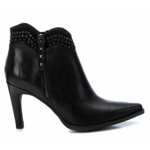 XTI Ladies Black Stilleto Ankle Boot