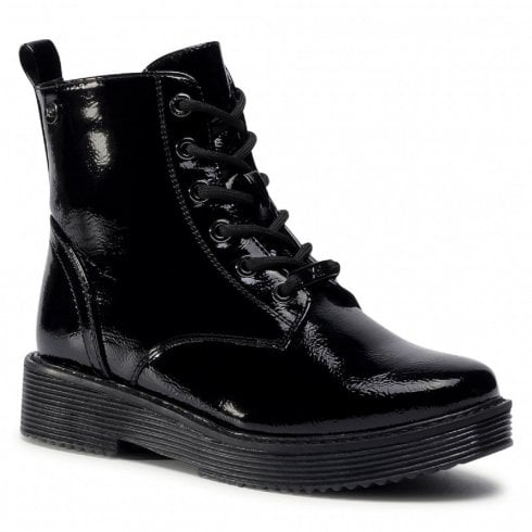 XTI Ladies Black Patent Ankle Boot