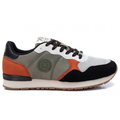 XTI Ladies Grey Combination Lace Up Trainer