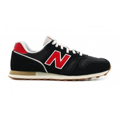 New Balance Mens 373 Black/Red Trainers