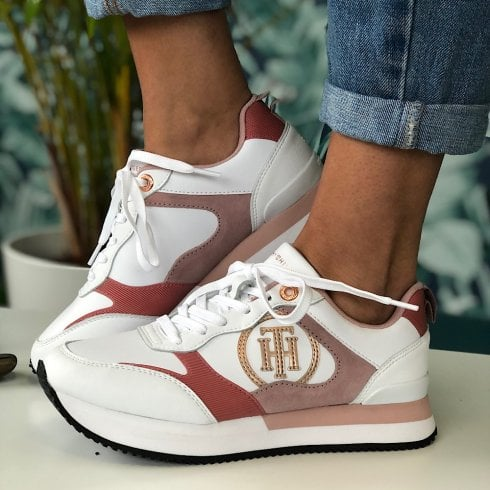 Tommy Hilfiger Ladies Pink Feminine Active City Trainers