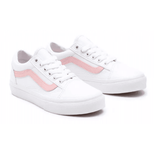 Vans Girls Pop Classic Pink/White Old Skool Trainers
