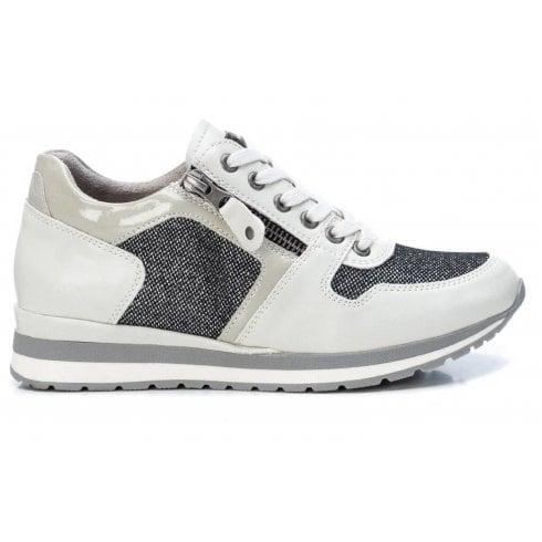 XTI Ladies Grey Glitter Trainers