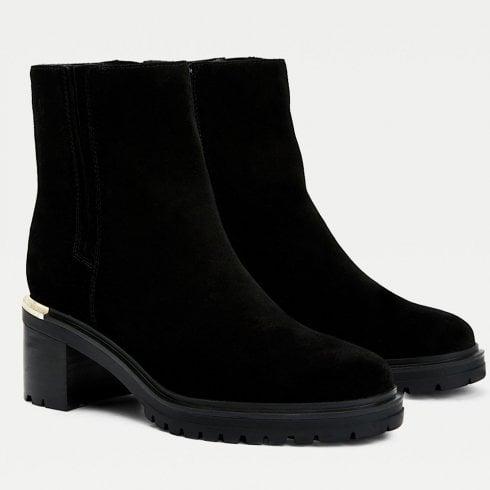 Tommy Hilfiger Ladies Black Outdoor Mid Heel Boots