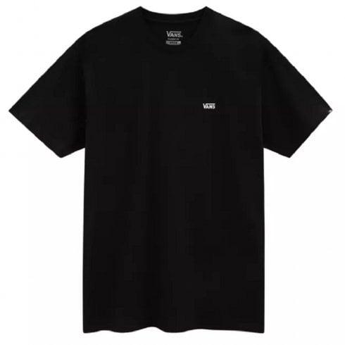 Vans Mens Left Chest Logo Black T-Shirt