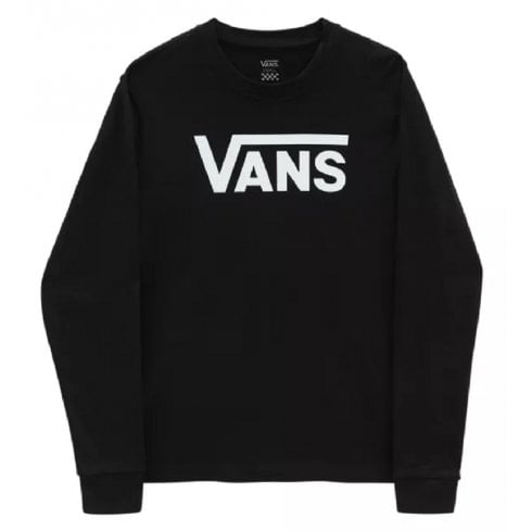 Vans Ladies Black Flying V Classic Long Sleeve T-Shirt