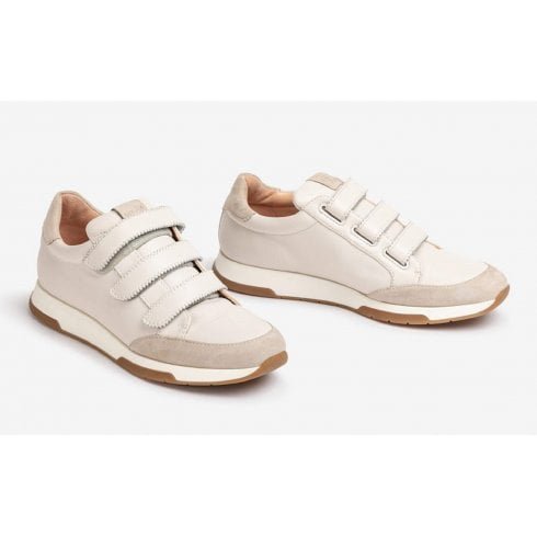 Unisa Falcer 3 Strap Leather Trainers - Ivory