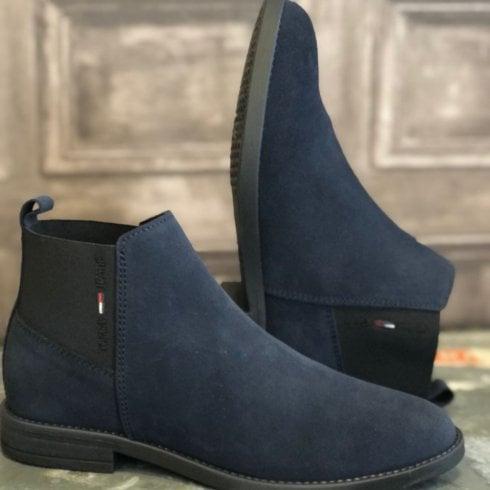 Tommy Hilfiger Ladies Essentials Twilight Navy Chelsea Boots