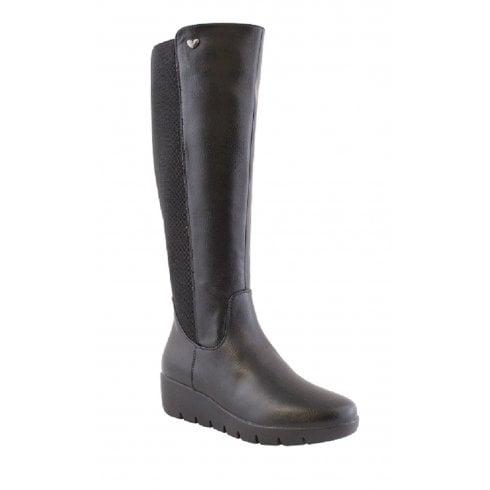 Susst Ladies Sherry Black Knee High Boot