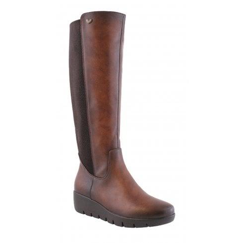 Susst Ladies Sherry Brown Knee High Boot