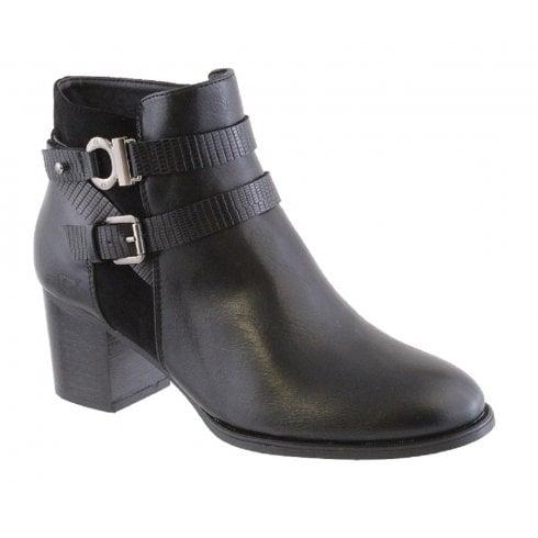 Susst Ladies Sofia Black Heeled Boot