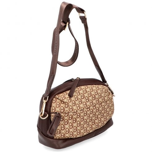 Hispanitas Ladies Tan H Logo Shoulder Strap Bag