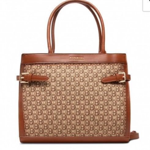 Hispanitas Ladies Tan H Logo Handbag