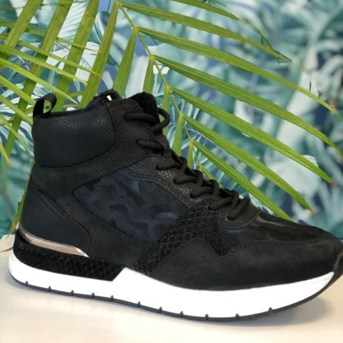 Tamaris Ladies Black Combination Ankle Booties