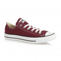 Unisex Maroon Chuck Taylor All Star Lo Ox Lace Up Trainer
