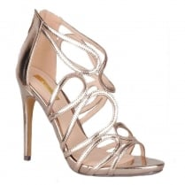 Womens Glamour High Heel Rose Gold Sandals