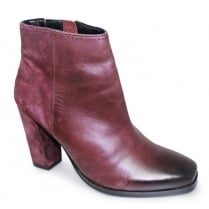 Lunar Zoella Burgundy Leather Ankle Boots