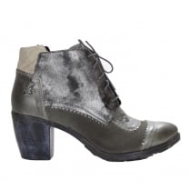 Maciejka Womens Clarabella Grey Lace Up Ankle Boots