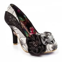 Irregular Choice Peach Melba Black Flower Court
