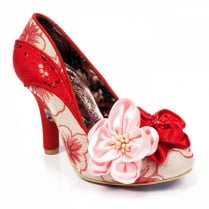 Irregular Choice Peach Melba Red Flower Court