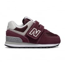 New Balance Infant 574 Core Velcro Suede Burgundy Shoes