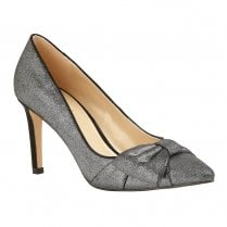 Lotus Minango High Heeled Pointed Court Shoes - Pewter