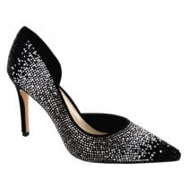 Menbur Leri Pointed Stiletto Court Shoes - Black