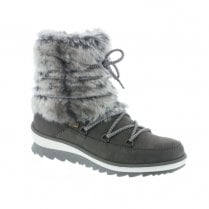 Remonte R4381 Ladies Flat Mid Calf Faux Fur Boots - Grey