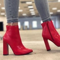 Millie & Co Bea Ankle Boot - Red