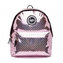 Hype Pink Metallic Polka Backpack
