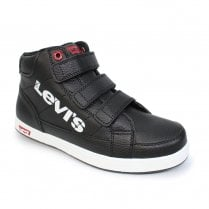 Levi's Junior Boys DCL059 Grace Hi Top Velcro Boots - Black
