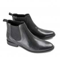 Ikon Jerry Men's Slip On Chelsea Boots - Black